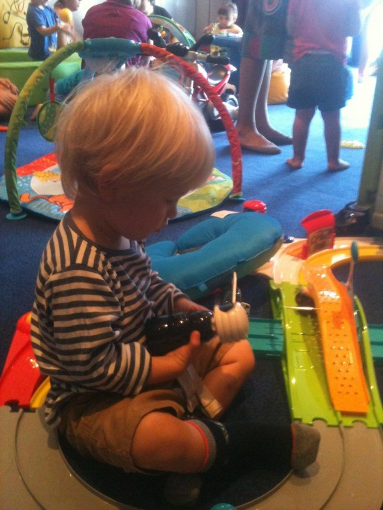 The onboard under 3s play room was a hit.