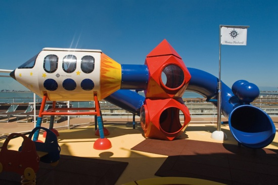 Just one of the three play structures on the MSC Musica. Image credit: cruiseguide.com.au