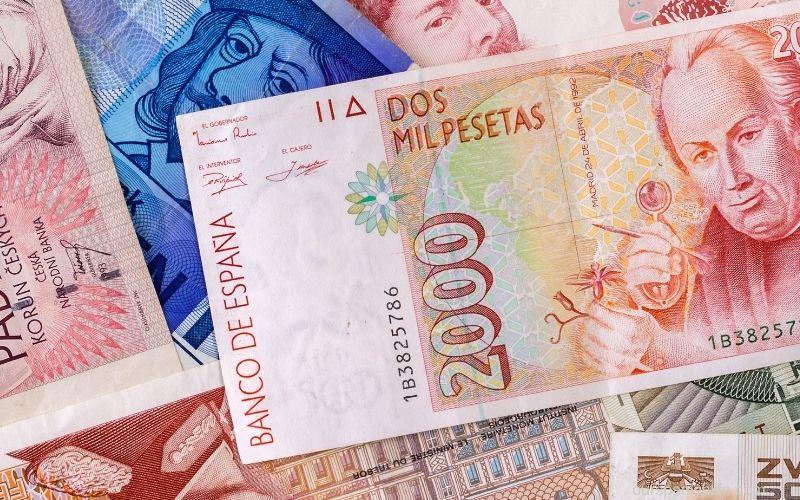 spanish peseta - image in a blog post asking does spain use euros or pesos